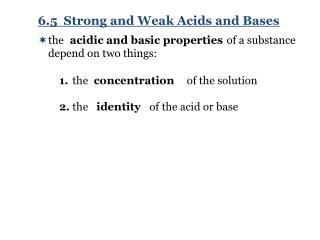 acidic and basic properties