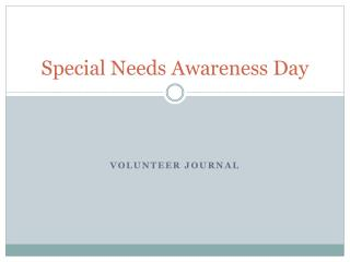 Special Needs Awareness Day