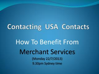 Contacting  USA  Contacts