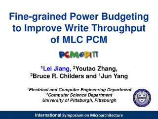 Fine-grained Power Budgeting to Improve Write Throughput  of MLC PCM