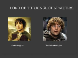 Lord of the Rings Characters