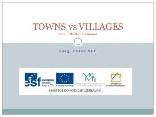 TOWNS  vs  VILLAGES GKVR Hlinsko,  Leszkowová