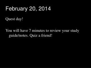 February 20, 2014