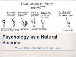 Psychology as a Natural Science