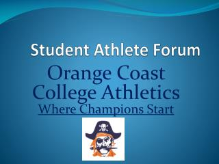 Student Athlete  Forum