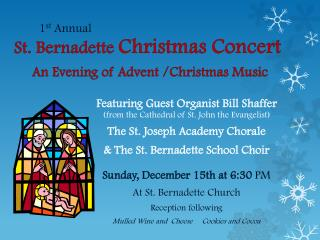 St. Bernadette  Christmas Concert