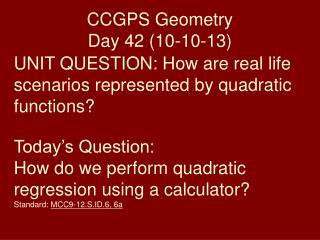 CCGPS Geometry Day 42 (10-10-13)