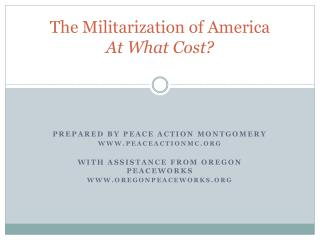 The Militarization of America At What Cost