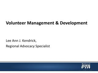 Volunteer Management & Development