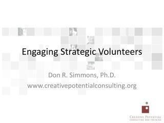 Engaging Strategic Volunteers