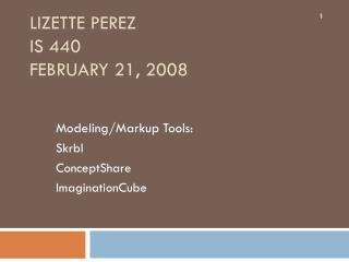 Lizette  Perez IS 440  February 21, 2008