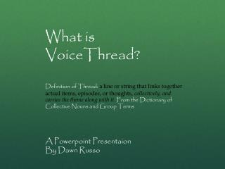 What is VoiceThread ?