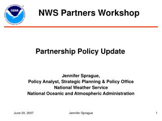 Partnership Policy Update