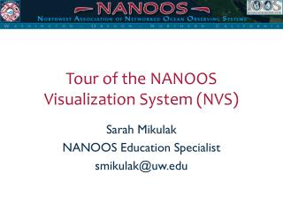 Tour of the NANOOS Visualization System (NVS)