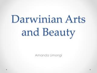 Darwinian Arts and Beauty