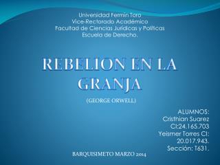 Universidad Fermín Toro Vice-Rectorado Académico Facultad de Ciencias Jurídicas y Políticas