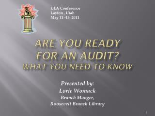 Are You Ready  For An Audit? What you Need to Know