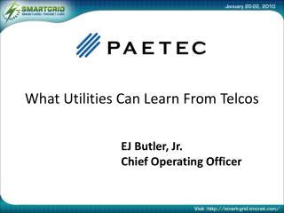 EJ Butler, Jr. Chief Operating Officer