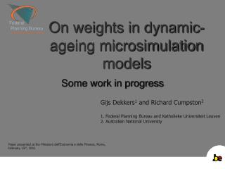 On weights in dynamic-ageing microsimulation models