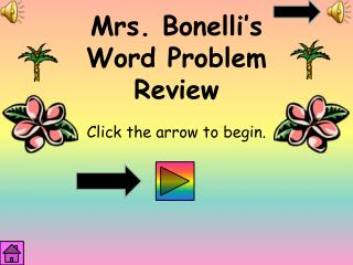 Mrs.  Bonelli's Word  Problem  Review