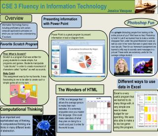 CSE 3 Fluency in Information Technology