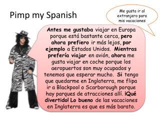 Pimp my Spanish