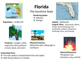 Florida The Sunshine State