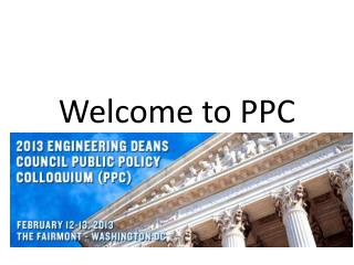 Welcome to PPC