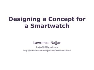 Designing a Concept for a  Smartwatch