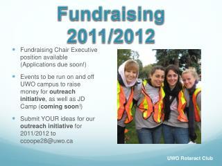 Fundraising 2011/2012