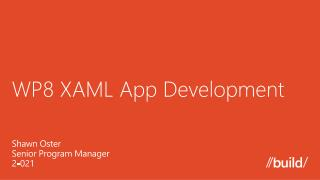 WP8 XAML App Development