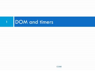 DOM and timers