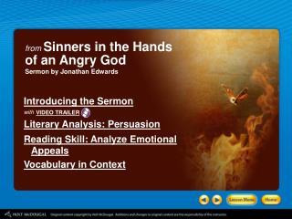 "an analysis of jonathan edwards sermon sinners in the hands of an angry god ""sinners in the hands of an angry god,"" and ""the declaration of independence  ""sinners in the hands of an angry god  the sentence from edwards sermon."