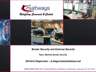 Border Security and External Security Topic: Maritime Border Security
