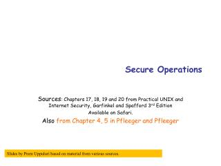 Secure Operations