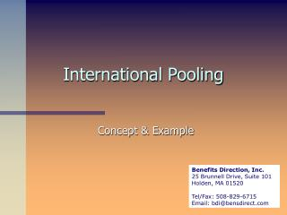 International Pooling