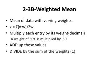 2-3B-Weighted Mean