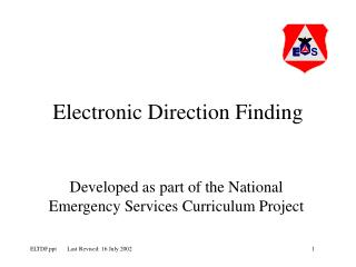 Electronic Direction Finding