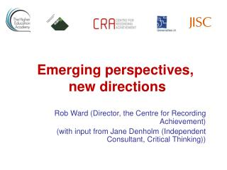 Rob Ward (Director, the Centre for Recording Achievement)