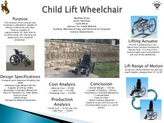 Child Lift Wheelchair