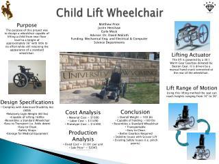 Child Lift Wheelchair