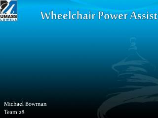 Wheelchair Power Assist