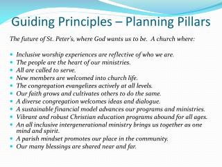 Guiding Principles – Planning Pillars
