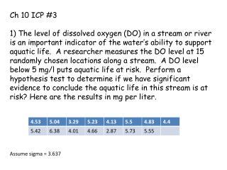 Ch  10 ICP #3