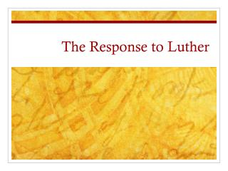 The Response to Luther