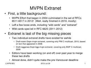 MVPN Extranet
