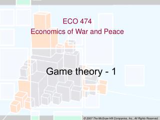 Game theory - 1