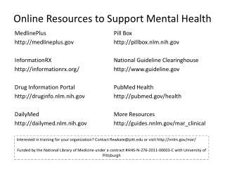 Online Resources to Support Mental Health