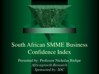 South African SMME Business Confidence Index