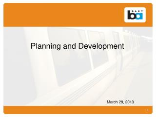 Planning and Development